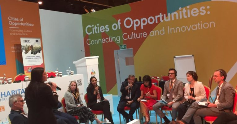 Latin American cities in the International Urban Cooperation Program presented their results at the 10th World Urban Forum, held in Abu Dhabi