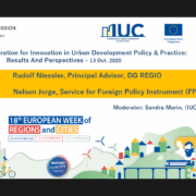 Government teams from Latin America, North America and Europe represented the IUC at the European Week of Regions and Cities