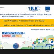 Equipes governamentais da América Latina, América do Norte e Europa representaram o IUC na Semana Europeia das Regiões e Cidades