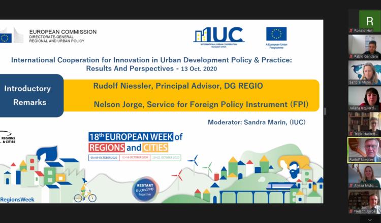 Equipos de gobierno de América Latina, Norteamérica y Europa representaron a IUC en la Semana Europea de las Regiones y las Ciudades